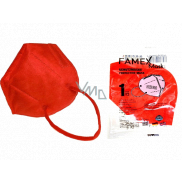 Famex Respirator oral protective 5-layer FFP2 face mask red 1 piece