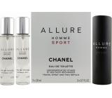 Chanel Allure Homme Sport toaletní voda komplet 3 x 20 ml