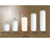 Lima Gastro smooth candle ivory cylinder 80 x 200 mm 1 piece