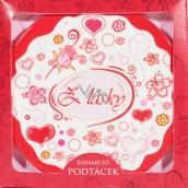 Nekupto Gift Center Coaster For Love