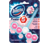 Domestos Power 5 Pink Magnolia WC tuhý blok 55 g