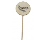Bohemia Gifts Wooden recess for herbs with print - Rosemary wheel diameter is 5 - 8 cm