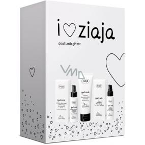 Ziaja Goat's milk SPF15 ultra light skin cream 50 ml + energizing and smoothing serum 50 ml + skin micro-peeling 75 ml, cosmetic set