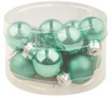 Flask glass light green set 2 cm, 12 pieces