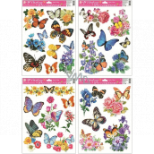 Room Decor Window foil butterflies and flowers 38 x 30 cm