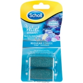Scholl Velvet Smooth Regular Coarse Medium Rough Sea Miner Replacement Heads for Electric Nail File 2 Pieces