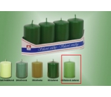 Lima Candle smooth cylinder leaf green 40 x 70 mm 4 pieces