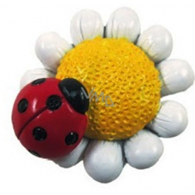 Colorful matte flower magnet