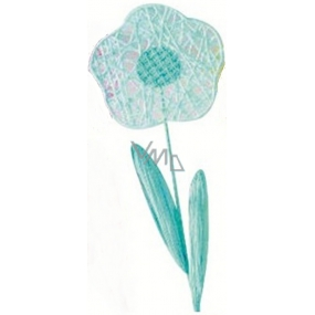 Flower large blue intertwined 49 cm