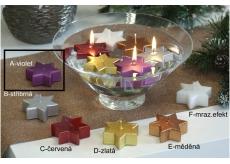 Lima Hvězda plovoucí svíčka violet 60 x 60 x 25 mm 1 kus