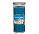 Yankee Candle Turquoise Sky - Tyrkysové nebe décor vonná svíčka velký válec sklo 75 mm 566 g