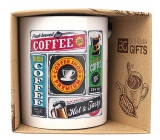 Bohemia Gifts Ceramic mug with print Coffee - retro 350 ml