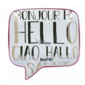 Bomb Cosmetics Hello, Ciao, Bonjour Soap Dish Ceramic soap dish 12.5 x 12.5 cm