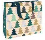 Nekupto Gift paper bag luxury 30 x 23 cm Christmas Trees WLFL 1998