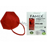 Famex Respirator oral protective 5-layer FFP2 face mask red 10 pieces