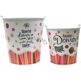 Nekupto Gift box for flowerpot medium Magic home diameter 14 cm 1 piece