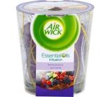Air Wick Essential Oils Infusion Lesní plody vonná svíčka 105 g