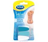 Scholl Velvet Smooth Blue náhradní hlavice do elektrického pilníku na nehty 3 kusy