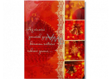 Albi Envelope Playing Wishes When the Christmas bell rings Bells of Happiness Karel Gott and Darina Rolincová 14.8 x 21 cm