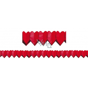 Garland of Hearts red small 400 x 8 cm
