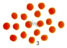 Bambulky Oranžové 2,5 cm 18 kusů
