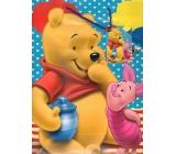 Ditipo Disney Dárková papírová taška dětská L Medvídek Pú, prasátko, vosy 26 x 13,7 x 32,4 cm 2902 009