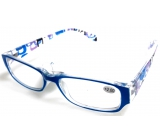 Eyeglasses + 2.5 light blue sides with rectangles MC2084