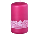 Emocio Egg candle cylinder raspberry 60 x 100 mm