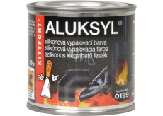 Aluksyl Silicone baking paint Black 0199 80 g