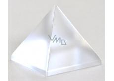 Skleněná pyramida matná 50 mm