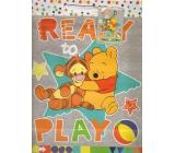 Ditipo Disney Dárková papírová taška dětská L Medvíde Pú, Ready To Play 26,4 x 12 x 32,4 cm