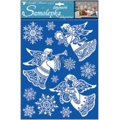 Stickers angels with snow effect 35 x 27.5 cm