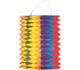 Lantern cylinder with vertical stripes 15 cm