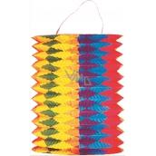 Lantern cylinder with vertical stripes 15 cm