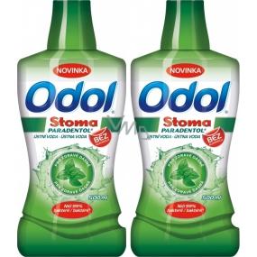 Odol Stoma Paradentol ústní voda 2 x 500 ml, duopack