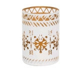 WoodWick White Snowflake candlestick for petite candle, 68 x 95 mm