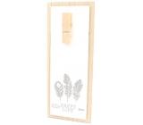Nekupto Home Decor Wooden board with peg white 30 x 12 cm