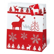 BSB Luxury Christmas paper gift bag 23 x 19 x 9 cm Red & White VDT 334 - A5