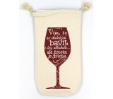 Nekupto Cheers Bottle Bag I know you can have fun without alcohol but certainty is sure 26 x 15 x 5 cm
