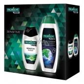 Palmolive Men Sensitive 250 ml men's shower gel + Palmolive Men Invigorating shampoo 350 ml, cosmetic set