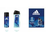 Adidas UEFA Champions League Dare Edition VI deodorant spray for men 150 ml + shower gel 250 ml, cosmetic set
