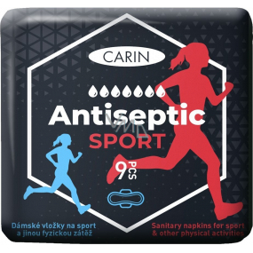 Carin Antiseptic Sport ultra-thin sanitary pads with wings for sport 9 pieces