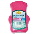 Abella Teddy Bear Kids bath sponge for children different colors 12 cm 1 piece