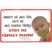 Nekupto Humor po Česku humorná cedulka 003 15 x 10 cm 1 kus