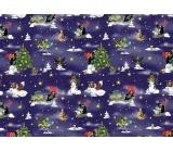 Nekupto Gift wrapping paper 70 x 200 cm Christmas Mole dark blue 1 roll