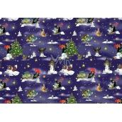 Nekupto Christmas Packing Paper Mole Dark Blue 70 x 200 cm 1 roll