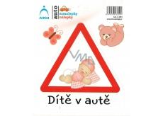 Arch Car sticker Child in car toddler girl 15 x 17 cm