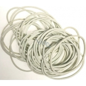 White rubber bands 80 pieces 619