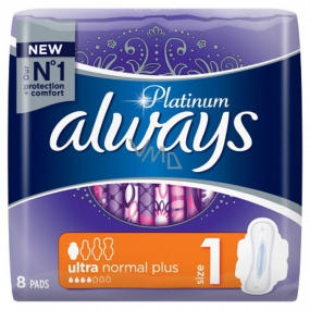 Always Platinum Ultra Normal Plus sanitary napkins with wings 8 pieces