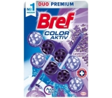 Bref Color Aktiv Lavender WC block for hygienic cleanliness and freshness of your toilet, coloring the water to purple hue 2 x 50 g